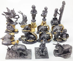 Michael Ricker Pewter Figurine Collection Of 16 Pieces 36 Lb Pewter