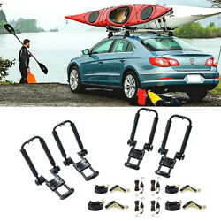 2 Pair Folding Kayak Carrier Roof Rack Canoe Boat Top Mount Truck SUV Jeep Ford