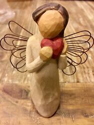 Willow Tree Angel Of The Heart Small Red Heart Figurine Susan Lordi Demdaco