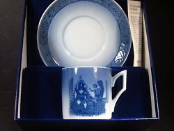Royal Copenhagen 1981 Cup And Saucer Set Orig Box Suitable For Gift Giving