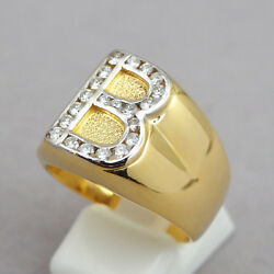 Initial B Gold And Diamond Ring