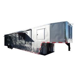 Concession Trailer 8.5' X 47' Silver Frost Food Event Catering