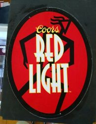 Coors Red Light Beer Metal Template Rare Signs L1