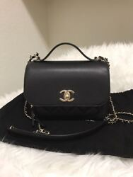 AUTH NEW CHANEL CLASSIC BUSINESS AFFINITY CAVIAR BLACK W GOLD BAG SOLD OUT
