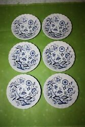 Lot Of 6 J And G Meakin England Classic White 5 3/8dessert Bowls