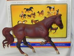 Nice Breyer Thoroughbred Race Horse 959 Monte in Box Reddish Chestnut Gem Twist