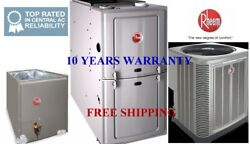 2 Ton14 Seer 50k Complete Rheem System Condenser And Evaporator Coil And Furnace