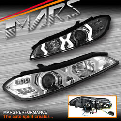Clear LED 3D DRL Bar Projector Head lights & LED Indicators for Nissan S15 200sx