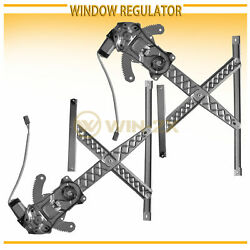 Front Left+Right Power Window Regulators w Motor Fit ExpeditionNavigatorF150