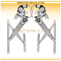 Front Left+Right Power Window Regulators w Motor Assembly Fit Dodge Ram Pickup