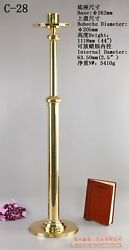 Brass Candle Holder Candlestick with Round Base 44