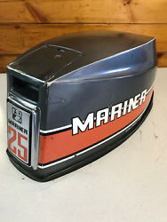 80and039s Mariner 25 Hp Outboard Hood Top Cowl Cowling Shroud Freshwater Mn