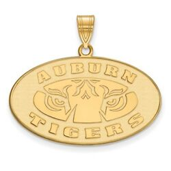 Auburn University Tigers Oval Pendant In 14k And 10k Yellow Gold