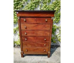 Antique Empire Dresser In Mahogany With Seven Drawers