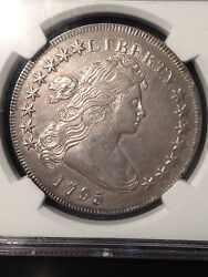1795 Draped Bust Silver Dollar US $1 Small Eagle NGC AU Details