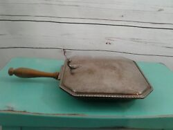 Silent Butler Bed Warmer Vintage Silver Plate Horse Epc 270 Wooden Handle 7x7