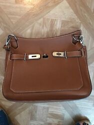 HERMES JYPSIERE 28 BAG MINT CONDITION WITH SILVER HARDWARE