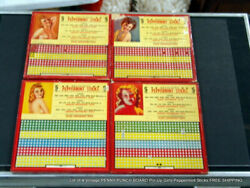 Lot Of 4 Vintage Penny Punch Board Pin Up Girls Peppermint Sticks Free Shipping