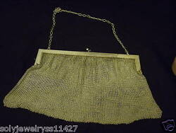 ANTIQUE WONDERFUL 800 STERLING SILVER CHAINMAIL PURSE & BAG CIRCA 1910 GERMANY
