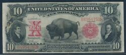 Fr116 10 1901 Bison Note Rare Signatures Vernon / Treat Choice Vf-xf Wlm6819