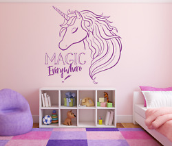 Magic Unicorn Quote Horse Pony Wall Girls Vinyl Sticker Decal Any Size Or Colour