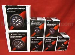 Mercury Analog Gauge Set Blk- Speedo 6k Tach Trimtempvoltfuel Hours
