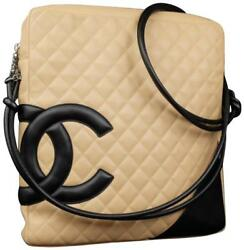 Chanel Messenger Cambon Extra Beige Quilted Leather Cross Body Bag 227178