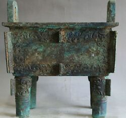 Ancient China Rare Wonderful Collectable Old Bronze Dragon Ding 古代鼎青铜器