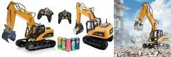 Top Race 15 Channel Remote Control Rc Fork Excavator, Construction Grapple...