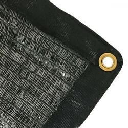Easyshade 50 Black Shade Cloth Taped Edge With Grommets Uv 12 Ft X 20