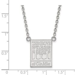 University Of Mississippi Rebels The Grove Pendant Necklace In 14k White Gold