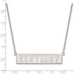 University Of Kentucky Wildcats School Name Pendant Necklace In 14k White Gold