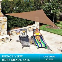 Ifenceview Triangle 5and039-24and039 Brown Sun Shade Sail Canopy Awning Top Patio Outdoor
