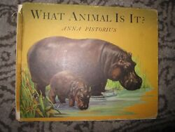 Vtg Hc Book What Animal Is It By Anna Pistorius 1947 Wilcox And Follett Co.