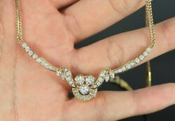 18k Yellow Gold Round Marquise Baguette Cut Diamond Serpentine Chain Necklace