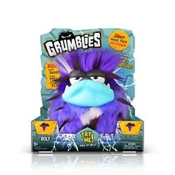 Grumblies Bolt Purple Pomsies Plush Interactive Kids Toy Boys Gift New Set Of 1