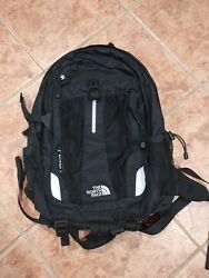 The North Face Recon Black Backpack Hiking School Traveling Mens Womens TNF
