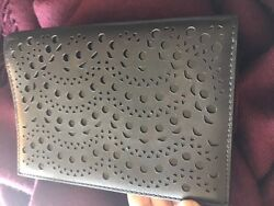 Alaia Black Leather Cutout Clutch New W Tags And Mirror Sold Out Elegance S