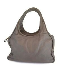 $1.7k Jil Sander woman grey lamb leather large hobo shoulder bag