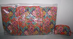 VERA BRADLEY Paisley in Paradise  Miller Bag and Small Cosmetic NWT NIP