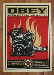 Shepard Fairey Print And Destroy 2009 Retro Series Large Format Screen Print Obey