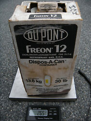 R12 Refrigerant DuPont R-12 FREON 30 lb cylinder of R-12 FREON DuPont 26.5 lbs.