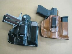 Azula Leather IWB Combo Holster And Mag Pouch CCW For..Choose Gun