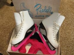 Riedell Women's Skating Shoes 220w - Size 6 1/2 White Sheffield Blades