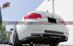 2008-2013 Bmw E92 E93 M3 Carbon Fiber Va Style Rear Diffuser And Undertray