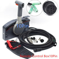 1Pcs Outboard Remote Control Box for Yamaha PUSH Throttle 10 Pin Cable
