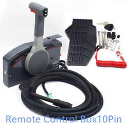 1PC Boat Outboard Remote Control Box for Yamaha 10Pin Cable Right Hand PUSH New