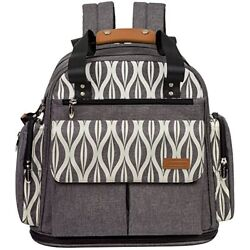 Lekebaby Expandable Diaper Bag Backpack Tote Messenger Bag for Mom and Girl in