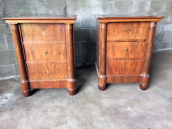 Antique and Elegant Pair of Empire Bedside Tables - Restored (in progress)