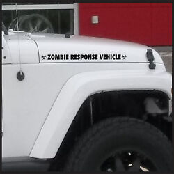 Zombie Response Vehicle Fender Sticker Decal For Jeep Wrangler